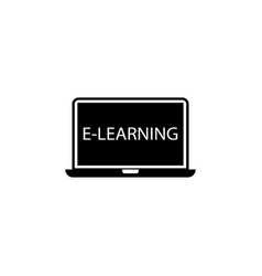 e-learning solid icon education school element vector image vector image