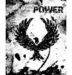 Eagle black poster vector