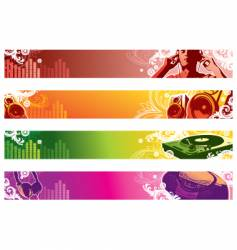 music web banners vector image vector image