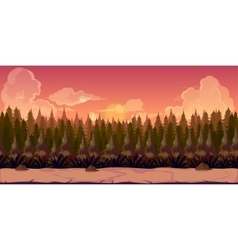 Mystery Forest 2d background vector image vector image