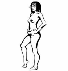 nude vector image vector image