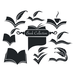 old books parchment poetry and literature vector image vector image