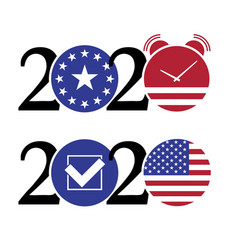 2020 united states presidential election concept vector