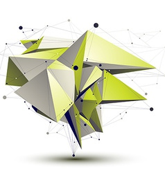3D abstract design object polygonal complicated vector