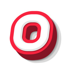 3d bold funny letter o heavy type for modern vector