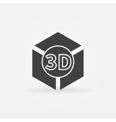 3D print logo or icon vector image