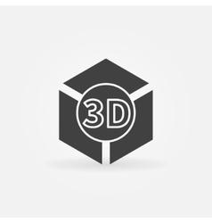 3D print logo or icon vector