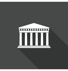 Ancient Greek architecture Long shadows vector