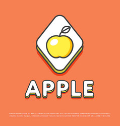 Apple colour icon in line design vector
