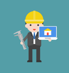 architecture cute character professional set flat vector image
