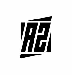 Az logo monogram with modern style concept design vector