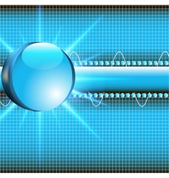background with glass ball vector image