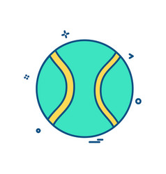 base ball icon design vector image