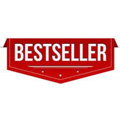 bestseller banner design vector image