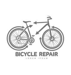 Bicycle repair workshop logo template vector