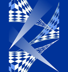 blue white modern futuristic design 3d grid and vector image