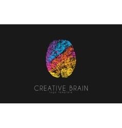 brain logo color logo design creative vector image