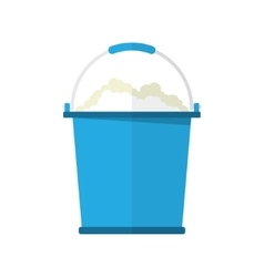 bucket with soap bubbles vector image