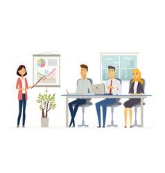 Business meeting - modern cartoon vector