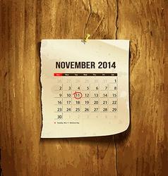Calendar November 2014 vector