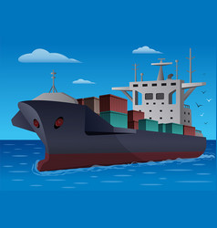 cargo ship vector image