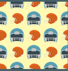 cartoon baseball helmet seamless pattern vector image