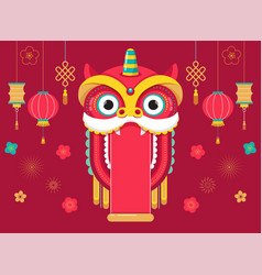 Chinese new year background greeting card with a vector