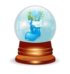 Christmas decorative snow ball vector