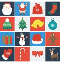 Christmas icon set Decoration elements vector