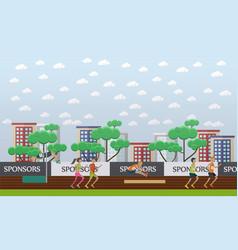 city stadium concept in flat vector image