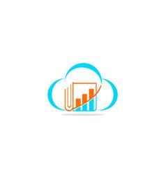 cloud data business document logo vector image