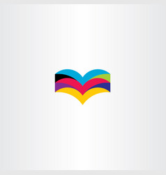 colorful book icon logo element sign vector image