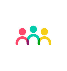 Colorful family human people logo icon vector