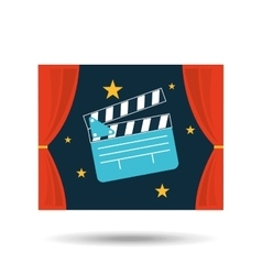 Concept cinema theater clapper graphic design vector