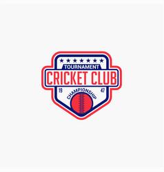 Cricket club badge logo-4 vector