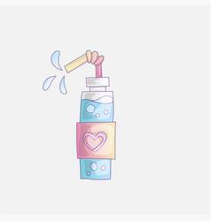 cute cartoon water bottles fitness vector image