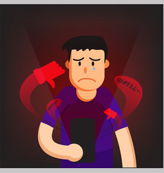 Cyber bullying man background graphic vector