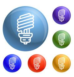 economy bulb icons set vector image