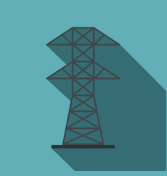Electric power station icon flat style vector
