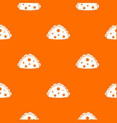 Empanada cheburek or calzone pattern seamless vector