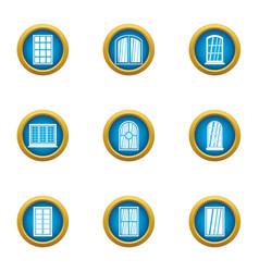 fiberglass icons set flat style vector image