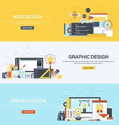 Flat designed banners Design vector