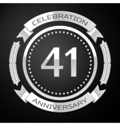 Forty one years anniversary celebration with vector image vector image
