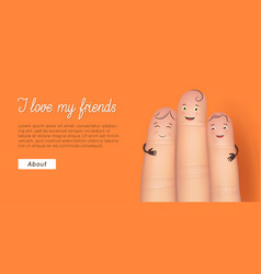 Friend finger poster vector