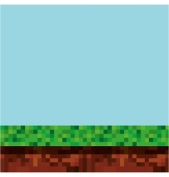 game scene pixelated background vector image