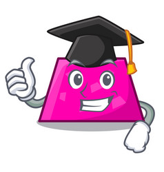 graduation trapezoid character cartoon style vector image