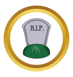 Grave rip icon vector