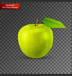 green apple on transparent background vector image