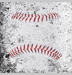 grunge baseball stitches vector image