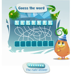 Guess the word present vector